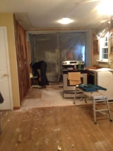 <h5>A Contractors Tale</h5><p>Existing kitchen space during demolition.</p>