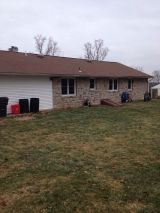 <h5>A Contractors Tale</h5><p>Rear of existing home - before construction</p>