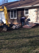 <h5>A Contractors Tale</h5><p>Removal of stone from rear of house.</p>