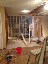 <h5>A Contractors Tale</h5><p>Framing for new wall in kitchen.</p>